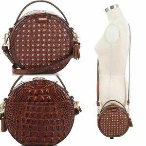 Brahmin Lane Croc Embossed Leather Crossbody Bag